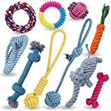 Jekeno Dog Rope Toys Dog Chew Toys Puppy Teething Toys for Small Medium Dogs - Set of 10