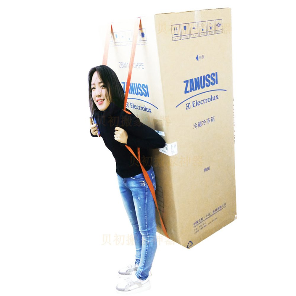 Home-Neat 1- Person Lifting and Moving Straps, Easily to Carry Furniture/ Refrigerator/ Appliance/ Mattress/ Heavy Objects, with over the Shoulder Lifting Aid Belt System