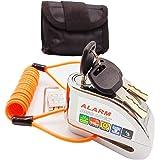 Bibowa Anti-Theft Alarm Disc Lock - Motorcycle Lock - Scooter Locks -Disc Brake Lock 110dB Alarm Sound and 6mm Pin with Remin