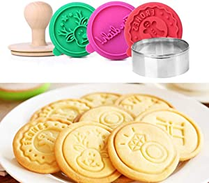 Cookie Stamps Set of 5, (German Words-