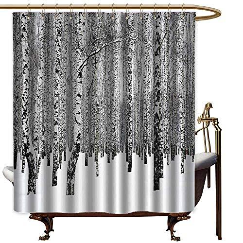 StarsART Shower Curtains Under 20 Winter Decorations,Winter Birch