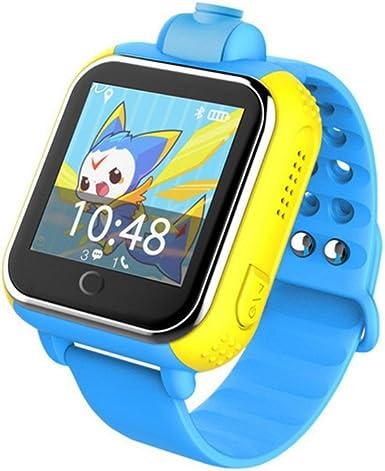 3 G Tarjeta Inteligente Reloj GPS Tracker Kids Smartwatch muñeca SIM Reloj teléfono móvil Anti-Lost SOS niños Pulsera Parent Control para Apple iPhone iOS Android Smartphone: Amazon.es: Electrónica