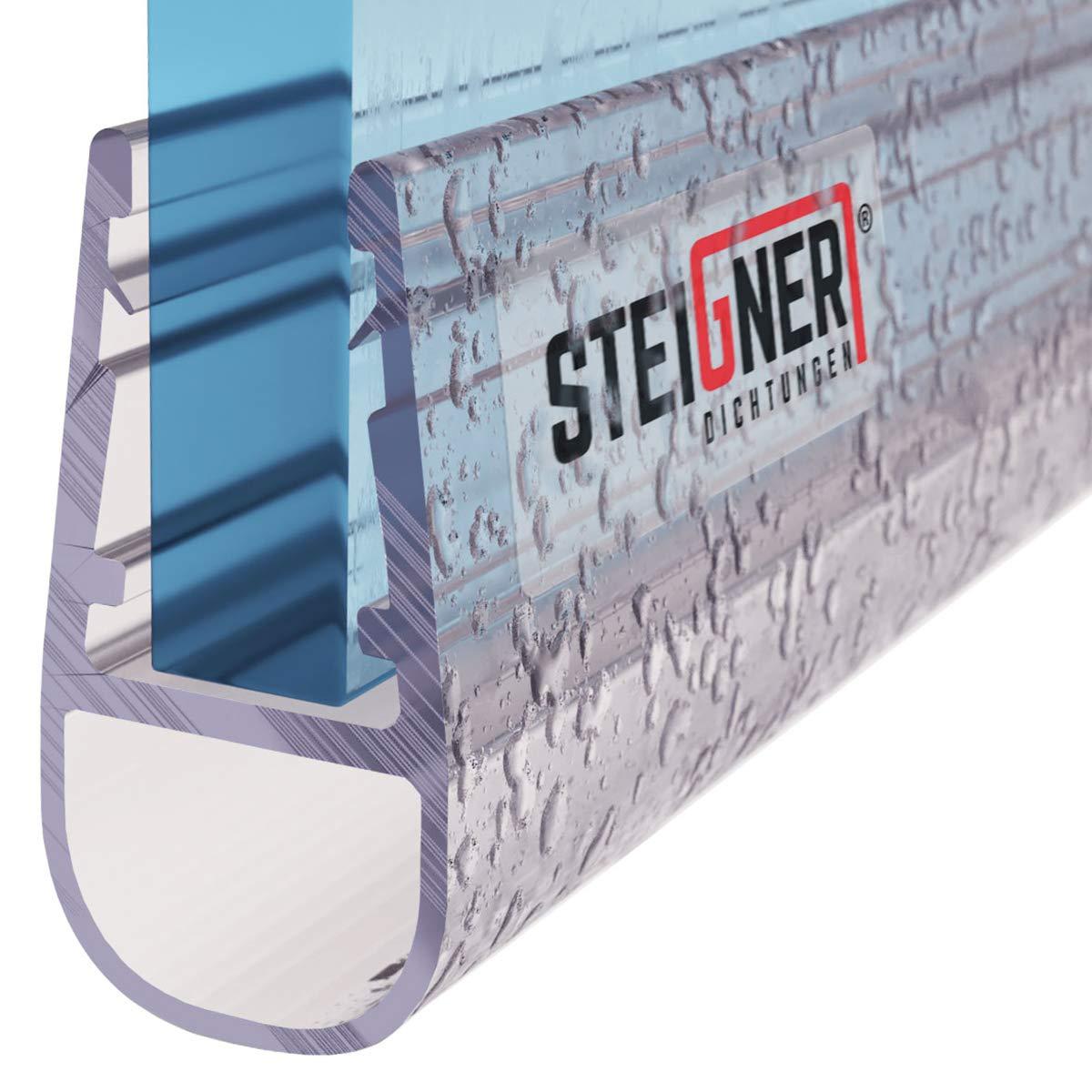 Steigner UK06 - Junta de repuesto de 190 cm para vidrio de grosor 3,5 mm / 4 mm / 5 mm, protección para mampara de ducha o bañera: Amazon.es: Bricolaje y herramientas