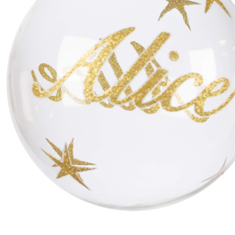 in vetro Pallina di Natale con nome Alice 10 cm