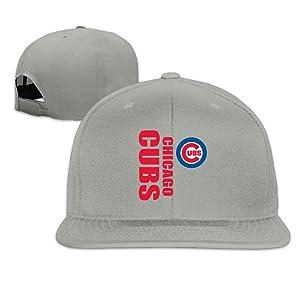 ElishaJ Flat Bill Chicago Sport Baseball Team Trucker Cap Hats Ash