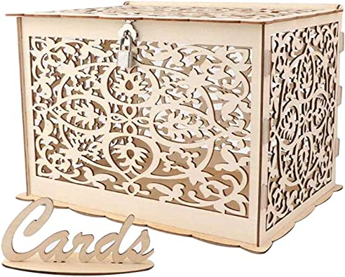 OuYou Caja de Madera Manivela de Madera Tallada Antigua Cajas ...
