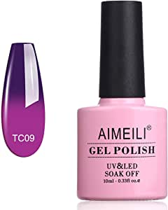 AIMEILI Soak Off UV LED Temperature Colour Changing Chameleon Gel Nail Polish - Moonshine (TC09) 10ml