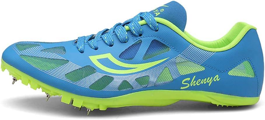YPPDSD Zapatillas de Atletismo, Zapatillas de Clavos de Atletismo Unisex Zapatillas de Entrenamiento para competición al Aire Libre Running Long Jump Mountaineering,Azul,41: Amazon.es: Hogar