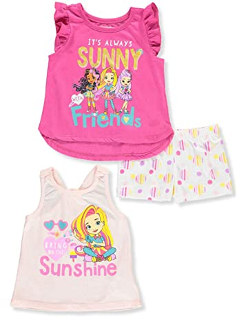 dfddb9c05 Nickelodeon Girls 3PC Shirts and Short Set: Paw Patrol & Shimmer and Shine