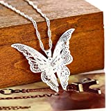 Usstore 1PC Women Necklace Fashion Lovely Butterfly Alloy Pendant Long Sweater Chain Jewelry Gift