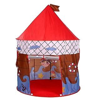 Zgsjbmh Castello per Bambini Kis Play Tent Pirate Printed Toys Giochi per Bambini all'aperto Tenda del Gioco per i Bambini