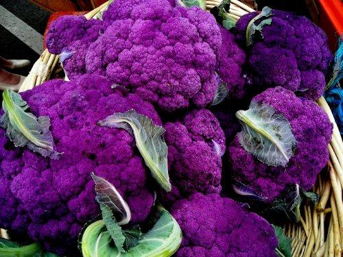 10 Original Packs 200 Purple Cauliflower Seeds * Nice Tasty Cape Broccoli *( Low in Fat, but High in Fiber, Water & Vitamin C.)
