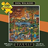 Jigsaw Puzzle - Dog Walkers 500 Pc By Dowdle Folk Art