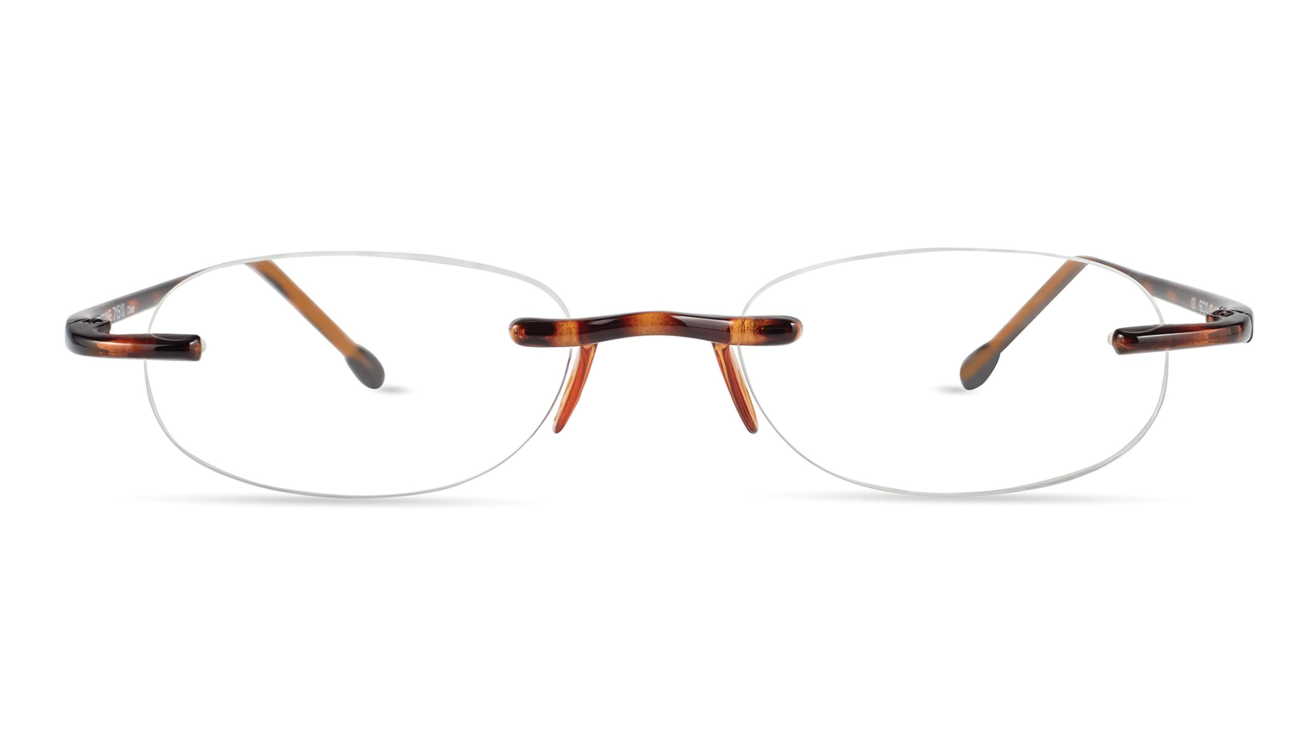 Gels - Lightweight Rimless Fashion Readers - The Original Reading Glasses for Men and Women - Tortoise (+1.50 Magnification Power) by Scojo New York (Image #3)