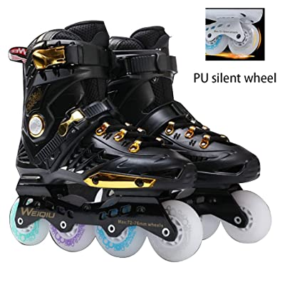Roller Skates High Skates for Men and Women Adult Inline Skates Skating Skates Skates Fine-Tuned Memory Buckle Anti-wear Design: Home & Kitchen