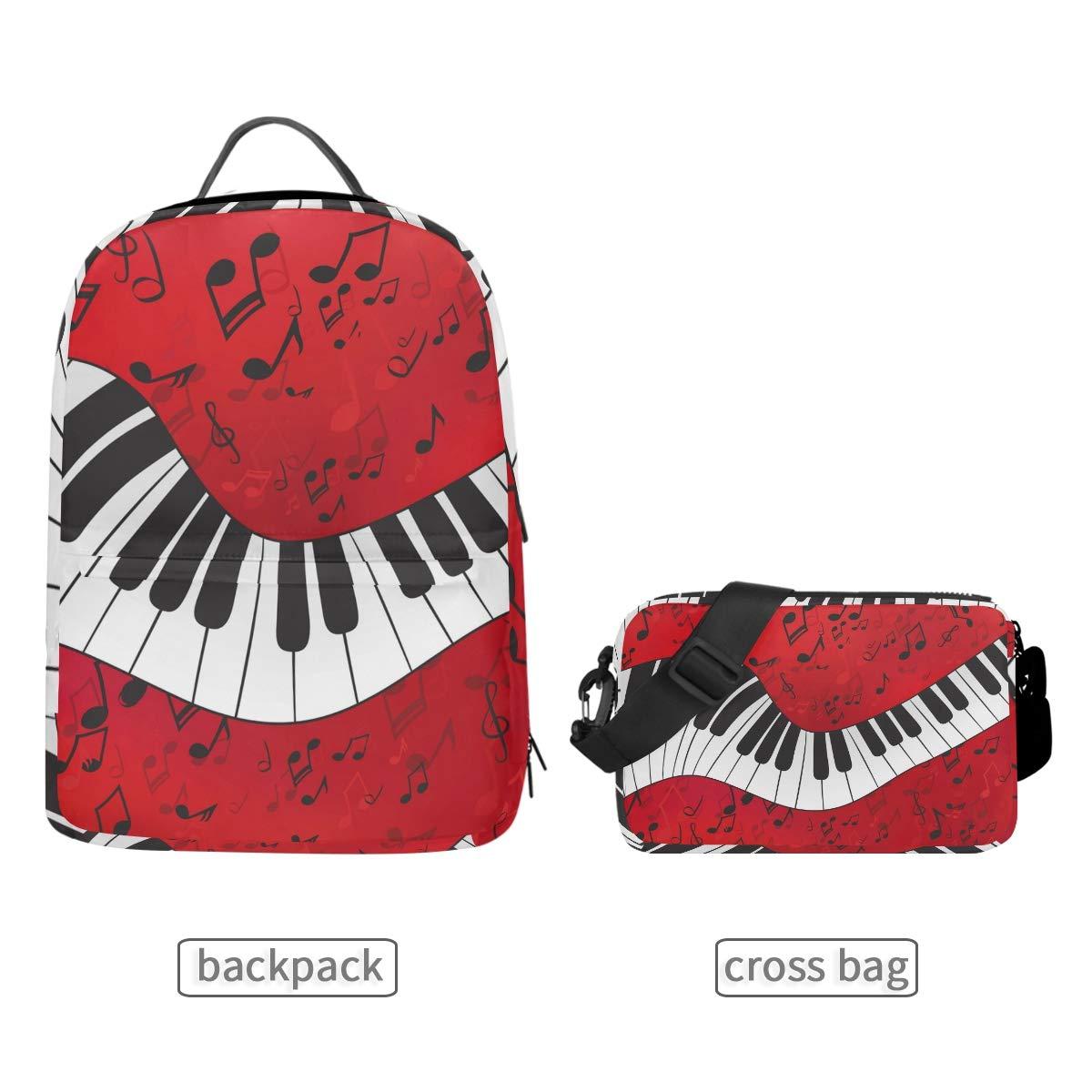 Teclado de Piano Desmontable Bolso Bandolera de Viaje CPYang Mochila Escolar para Notas Musicales Mujeres y Hombres para ni/ñas ni/ños port/átil