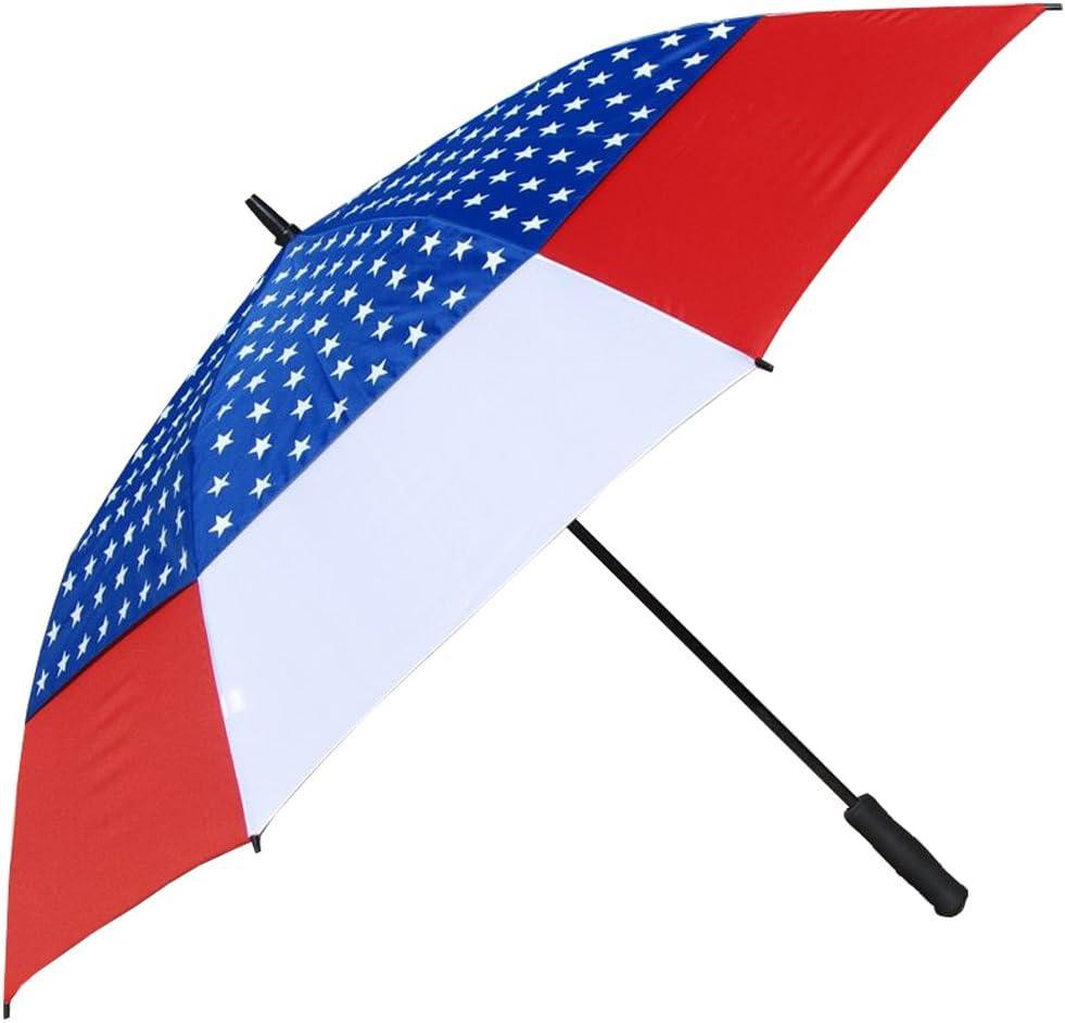 RainStoppers Auto Abierto Windbuster Paraguas con Canopy de ...
