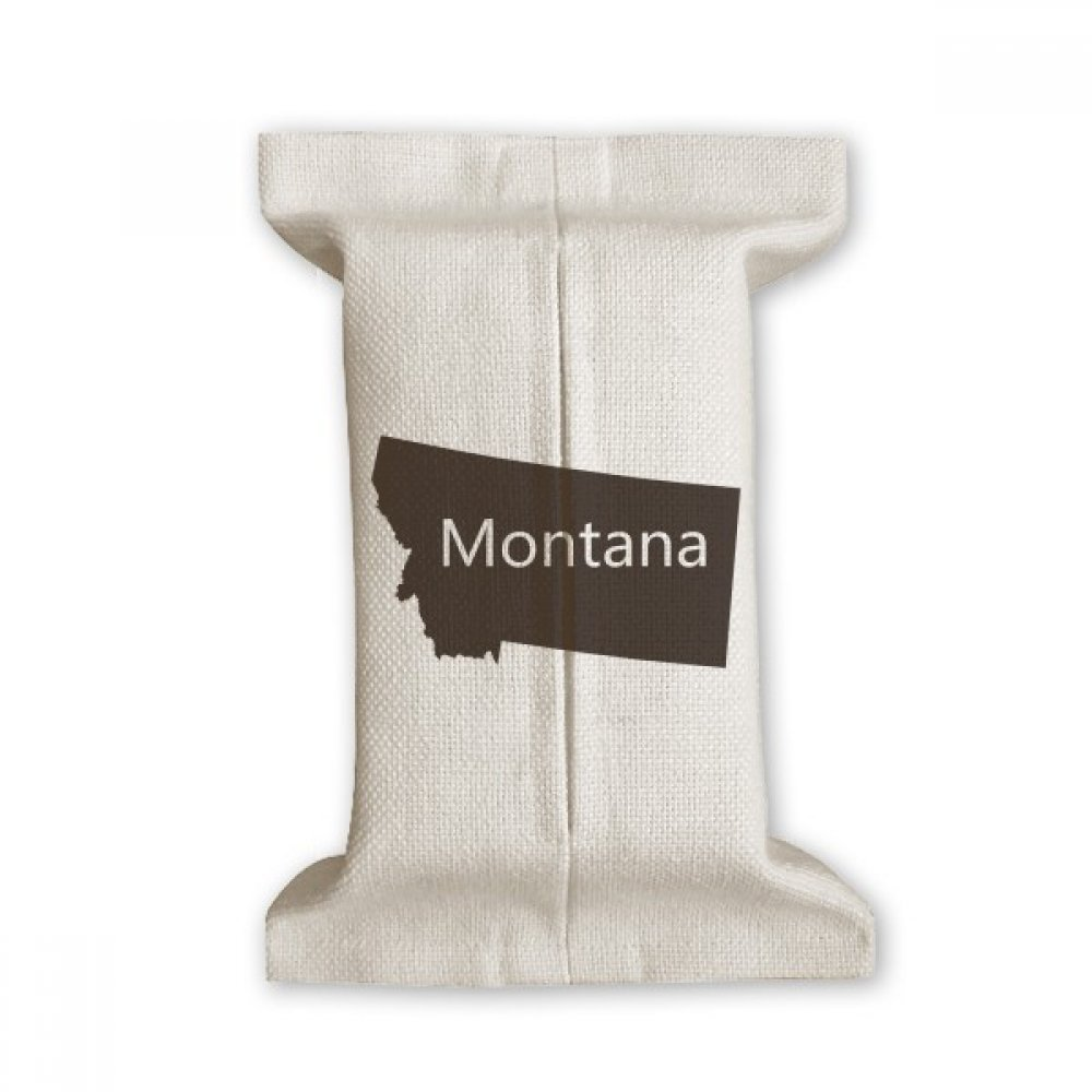DIYthinker Montana America USA Map Silhouette Tissue Paper Cover Cotton Linen Holder Storage Container Gift by DIYthinker (Image #1)