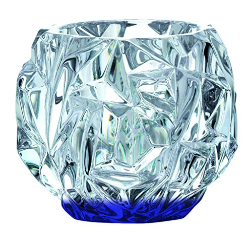 Beautiful Tiffany & Co Crystal Rock Cut Votive Candle Holder - Bottom Color Cobalt Blue - Additional Vibrant Colors Available by TableTop - Co Color Tiffany And