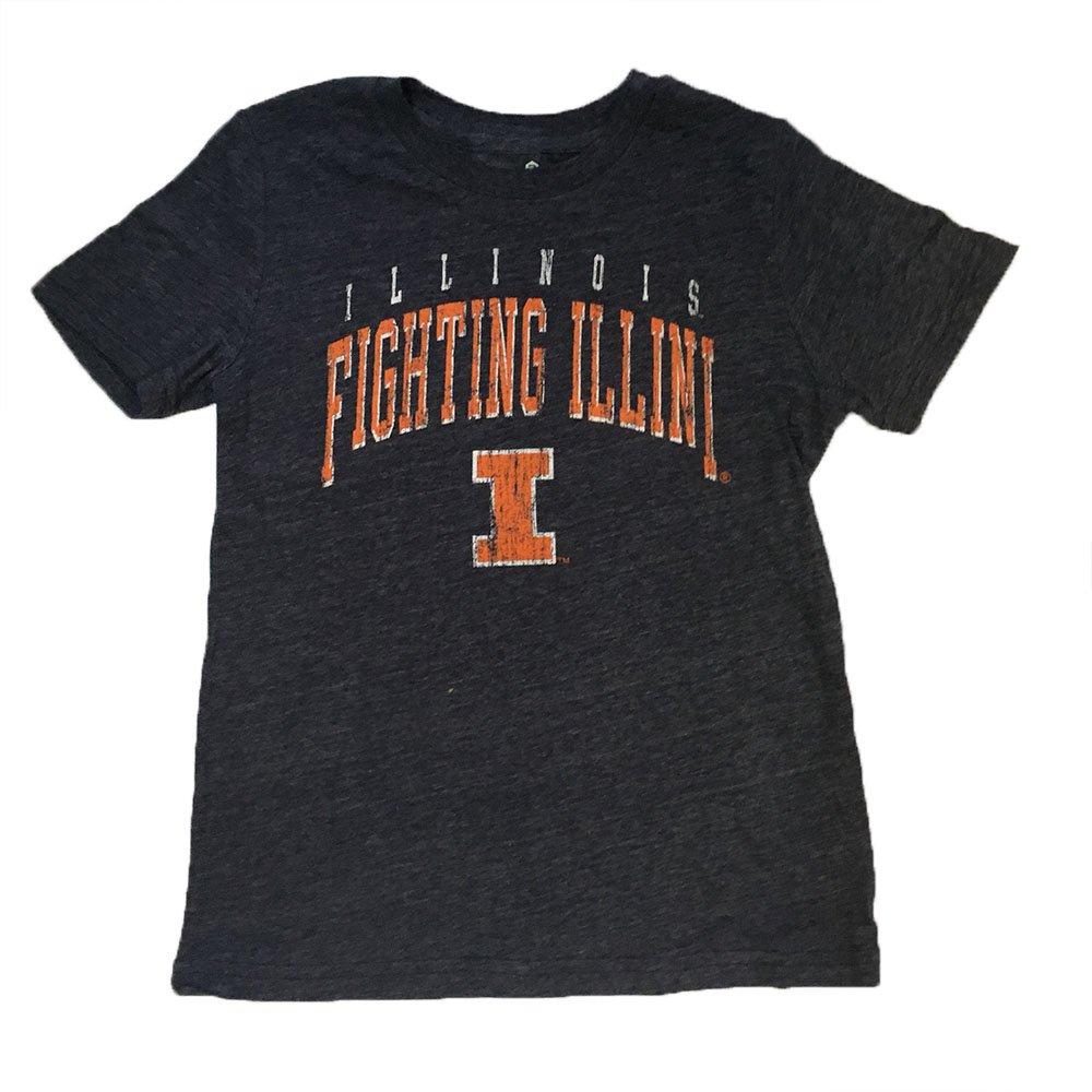 Illinois Fighting Illini Gen2 Youth Navy Tri Blend Wheelhouse Shirt