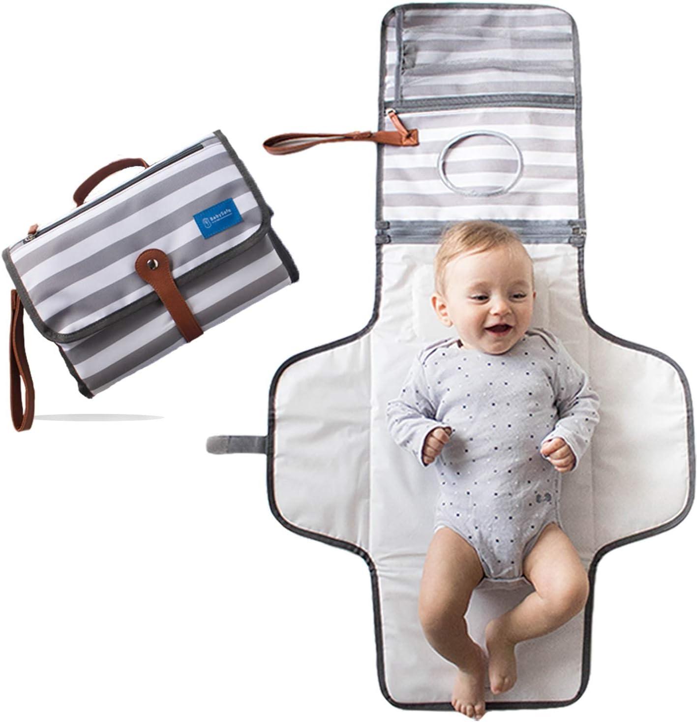 Borsa fasciatoio con fasciatoio e tasca per bottiglie motivo floreale impermeabile per neonati con grande capacit/à multifunzione da viaggio Kaome