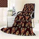 AmaPark Digital Printing Blanket Classical Islamic in Colors Artsy G Chestnut Brown Summer Quilt Comforter