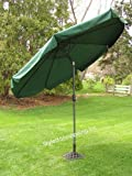 Styled Shopping 9 Foot Deluxe Forest Green Outdoor Patio Deck Commercial Umbrella