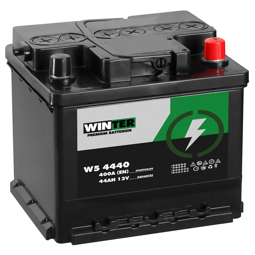 WINTER Premium Autobatterie 12V 44Ah statt 42Ah 45Ah 47Ah WINTER Batterien W5 4440