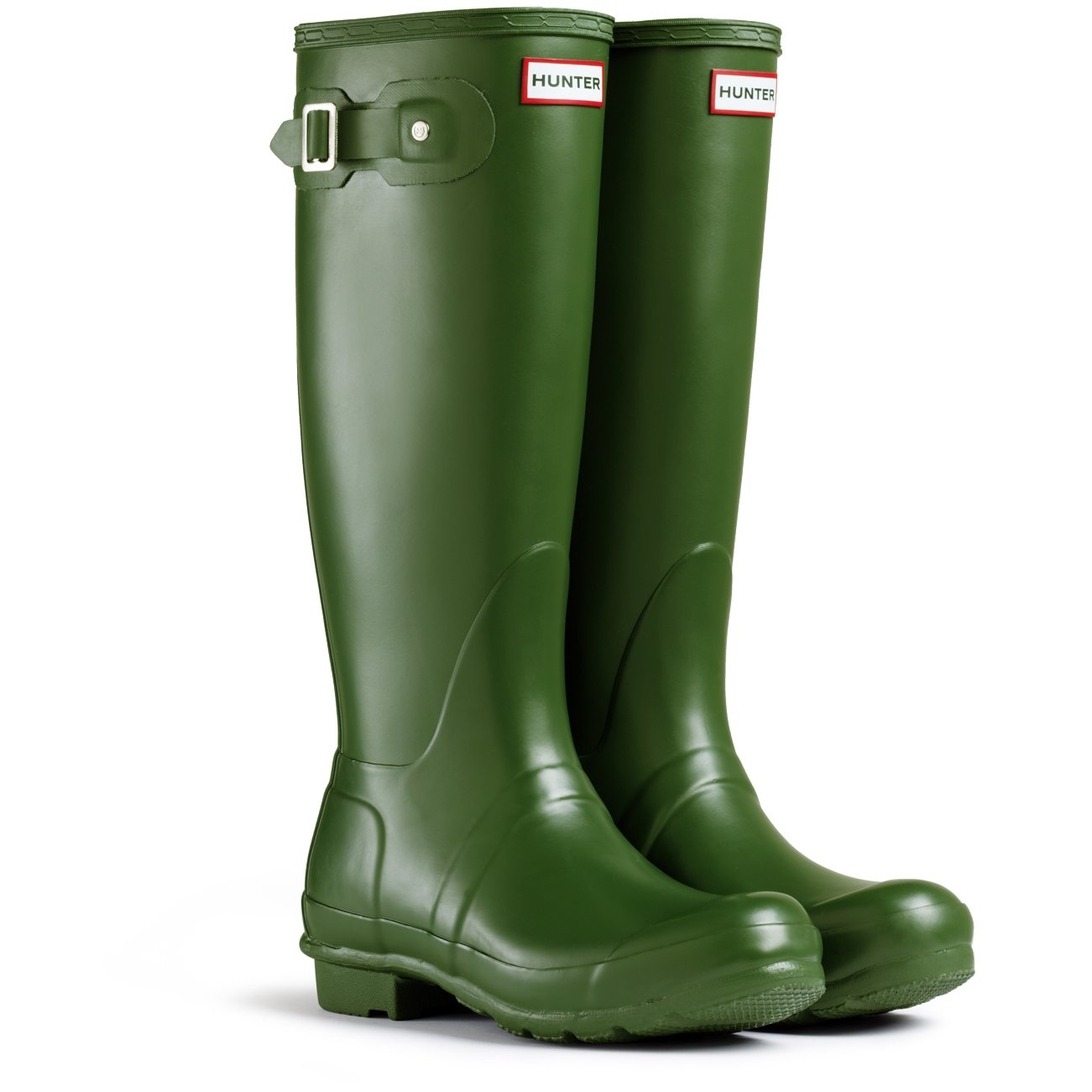 Hunter Women's Original Tall Snow Boot (7 M US, Hunter/Green)