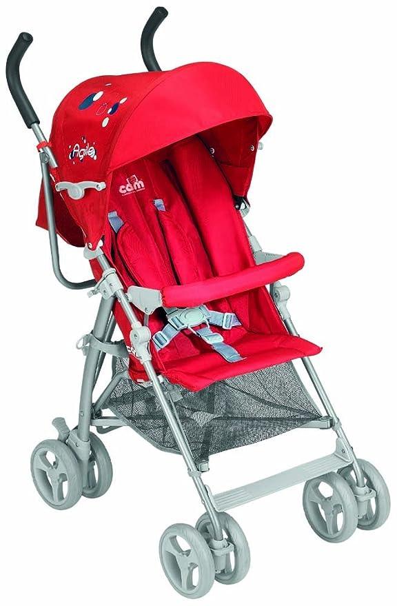 Cam - Cochecito urbano Agile, color rojo: Amazon.es: Bebé