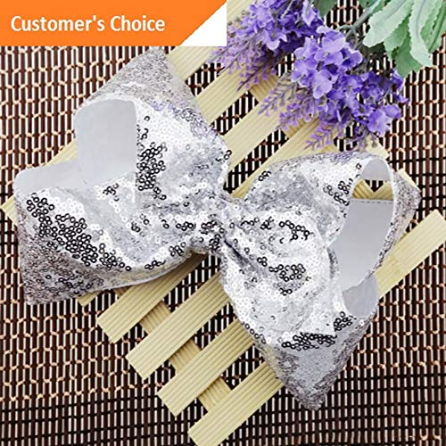 Werrox Baby Girl Hairpin Bowknot 8 Sequins Rainbow Bows Large Rib Hair Accessories | Model HRPN - 1249 |