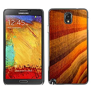 MOBMART Carcasa Funda Case Cover Armor Shell PARA Samsung Note 3 N9000 - Brown Woolen Striped Design