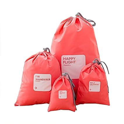Amazon.com: Ya Jin 4 Pieces Waterproof Storage Bag ...