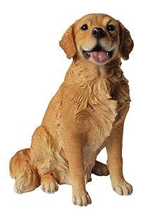 Hi-Line Gift Ltd Golden Retriever Sitting Dog Statue