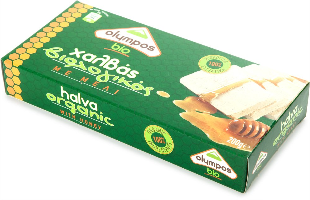 Organic Halva with Honey 3 pack 7oz each by Olympos BIO