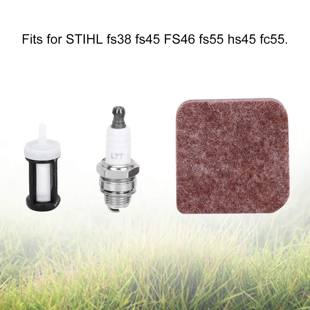 Bujía + Filtro de Combustible + Filtro de Aire para STIHL FC55 ...