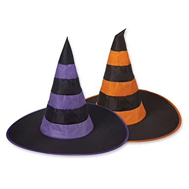 92cb6f20753 Image Unavailable. Image not available for. Color  Club Pack of 12 Assorted  Colors Halloween Nylon Witch Hats Costume Accessories Party Decorations