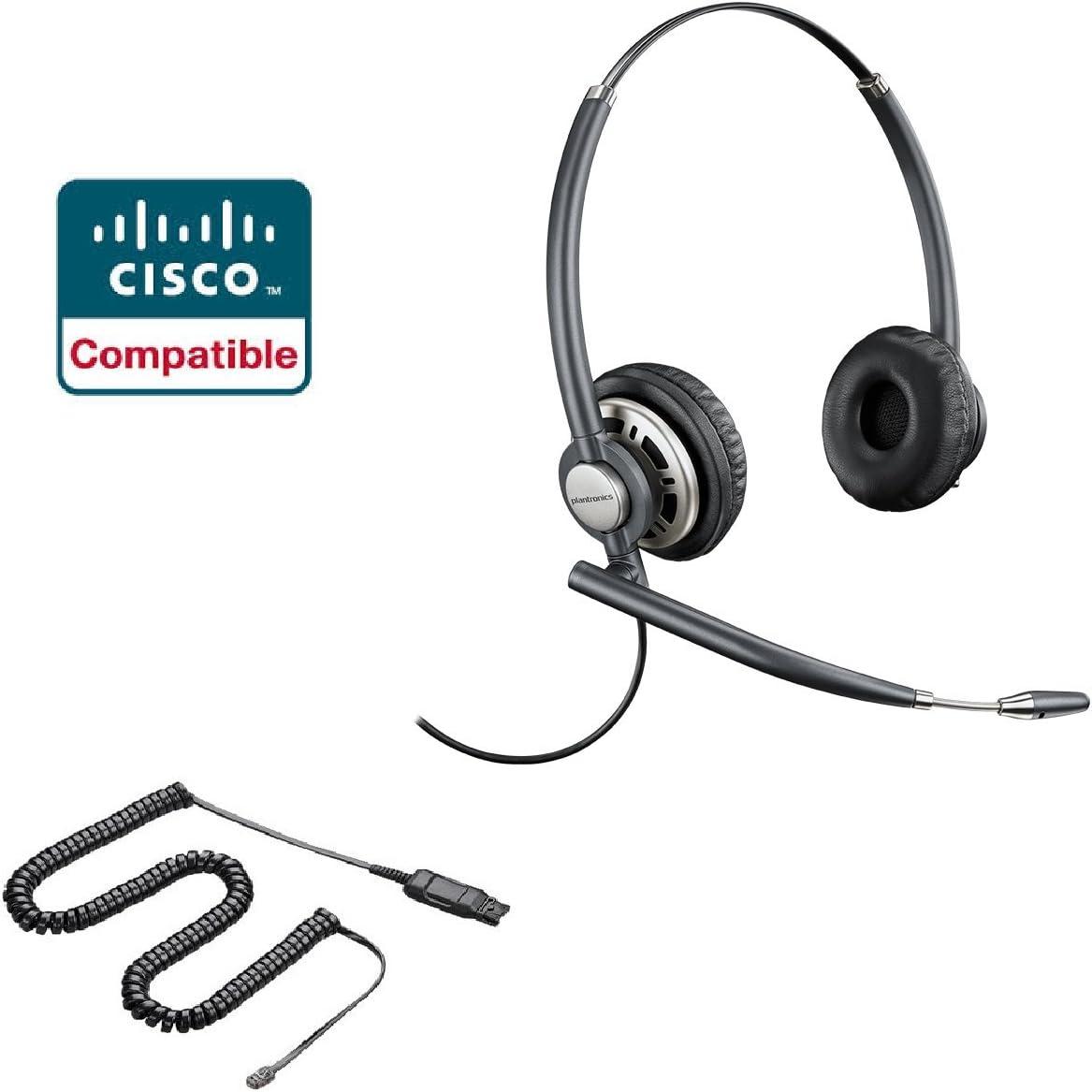 Amazon Com Cisco Compatible Plantronics Encorepro 720 Hw720 Noise Canceling Direct Connect Voip Headset Bundle Cisco 69xx 78xx 79xx 89xx 99xx Series Phone Office Products