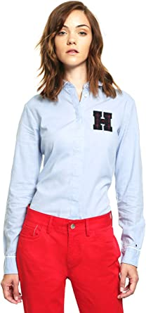 Tommy Hilfiger Julia LS W3 Camisa Manga Larga, Azul (Shirt Blue), 32 para Mujer: Amazon.es: Ropa y accesorios