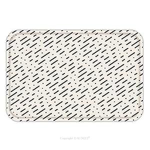 Franela de microfibra antideslizante suela de goma suave absorbente Felpudo alfombra alfombra alfombra Vector sin costuras negro y blanco Diagonal líneas discontinuas lluvia patrón abstracto Fondo 418378750para interior/al aire libre/Bate
