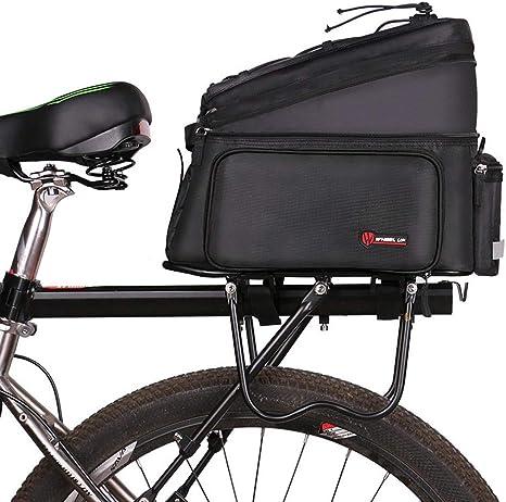 Jiasj Bolsa Bicicleta Cuadro, Bolsa de Almacenamiento de Bicicletas Estante Trasero Pannier Bike Bag Accesorios para Bicicletas Bolsa de Hombro: Amazon.es: Deportes y aire libre