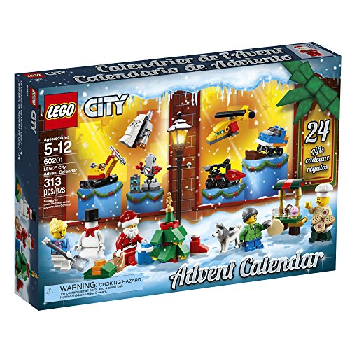 61poducvC5L - LEGO City Advent Calendar 60201, New 2018 Edition, Minifigures, Small Building Toys, Christmas Countdown Calendar for Kids (313 Pieces)