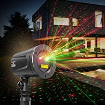 TaoTronics TT-SL002 Laser Christmas Lights Outdoor Holiday Decorations, Class Ⅲ Projector with Japan Sharp Chip More Durable Quality, IP65 Waterproof, Fda Approved