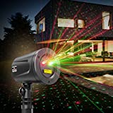 Laser Christmas Lights, TaoTronics Outdoor Light Projector for Holiday Decorations, Class Ⅲ-A Laser Projector with Japan Sharp Chip More Durable Quality, IP65 Waterproof, FDA Approved