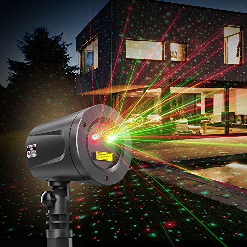 TaoTronics TT-SL002 Christmas Outdoor Light Holiday Decorations, Class Ⅲ-A Laser Projector with Japan Sharp Chip More Durable Quality, IP65 Waterproof, FDA Approved