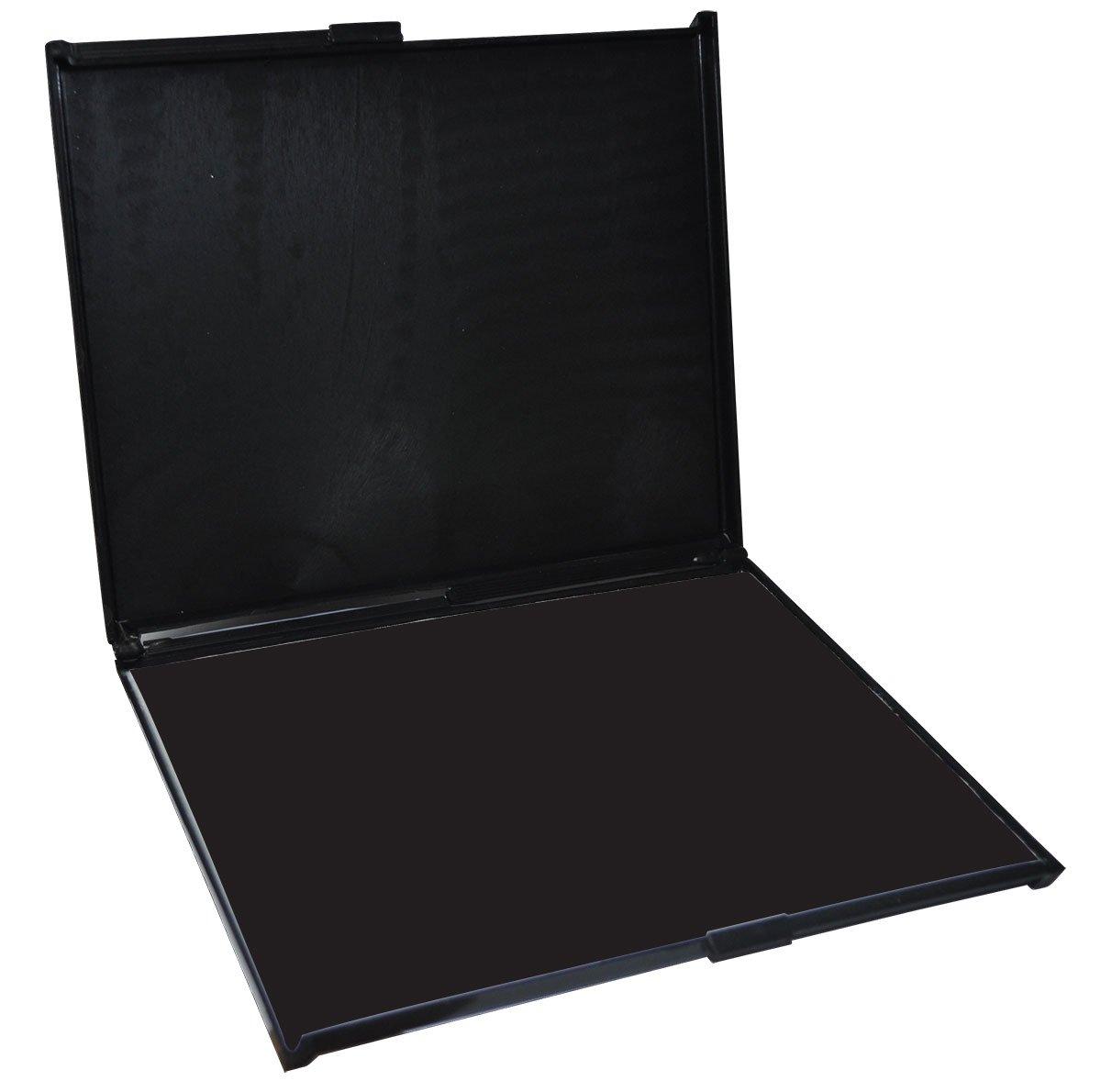 MaxMark Extra Large Industrial BLACK Stamp Pad - 6'' by 8'' - Premium Quality Felt Pad