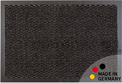 Fußmatte Fußabstreifer schmutzabsorbierend Schmutzfangmatte Uni einfarbig anthrazit meliert 60x90 cm