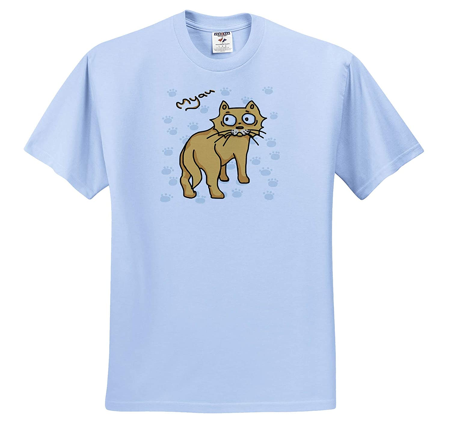 - Ginger Cat Say Meou 3dRose Warya Animals T-Shirts