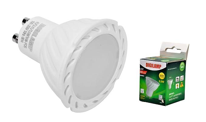 Digilamp 40-LED-GU10-5W5-NW - Bombilla, GU10, 220
