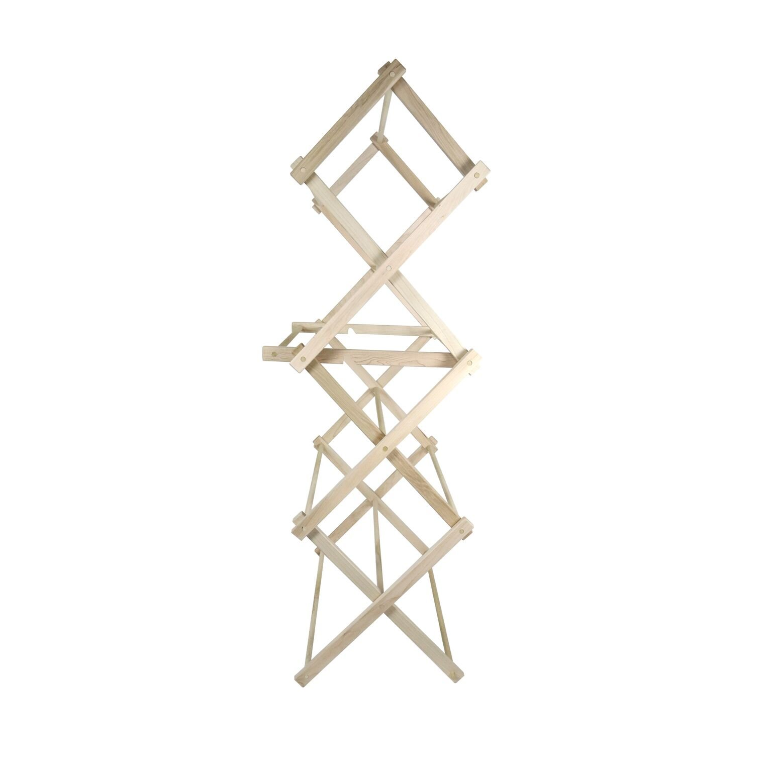"""LifeSong Milestones American Made Clothes Drying Rack Collapsible Folding Two Height Wooden Quilt Rack 36'' x 28'' x 7.5"""" 100% hardwood Made in the USA (36'') by LifeSong Milestones (Image #4)"""